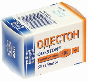 Желчегонный препарат Одестон