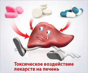 Симптомы и лечение токсического поражения печени